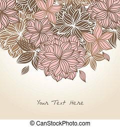 floral, griffonnage, couleur d'arrière-plan