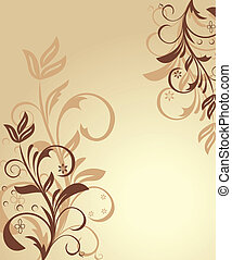 floral, illustration, fond
