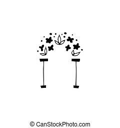 floral, logo, élément