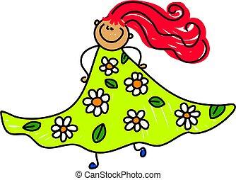 floral, mon, robe