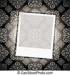 floral, photo, papier peint, instant