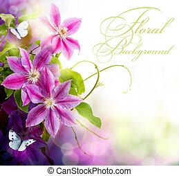 floral, printemps, conception abstraite, fond