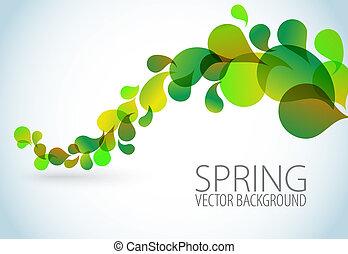 floral, printemps, résumé, fond