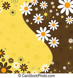 floral, résumé, fond, (vector)