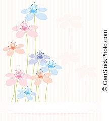 floral, résumé, vecteur, fond