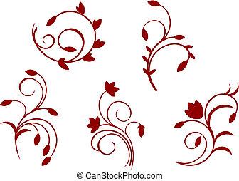 floral, simplicité, décorations