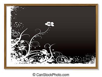floral, tableau noir