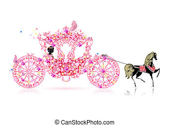 floral, vendange, voiture