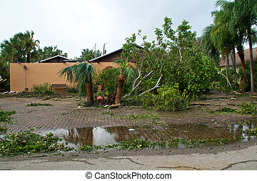 floride, endommagé, propriété, ouragan, irma