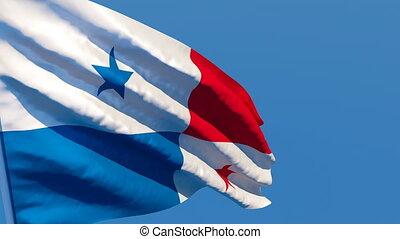 flottements, drapeau, national, panama, vent