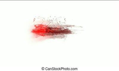 fluide, éclaboussure, plasma, sanguine, rouges, &
