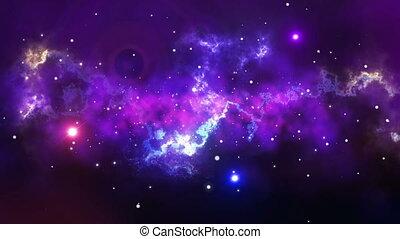 """""""flying, entre, extérieur, stars"""", espace"""