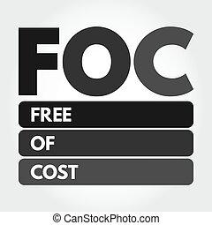 foc, concept, gratuite, acronyme, cout, -, fond