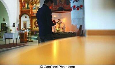foi, prier, église, religion, prière, homme