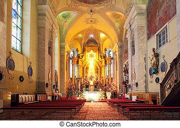 foi, sanctuaire, où, église, rituals., religieux