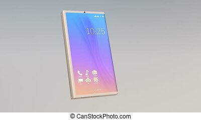 foldable, pc tablette, transformer, téléphone, démonstration, intelligent