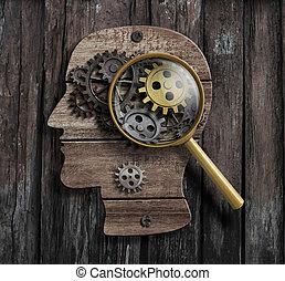 fonction, psychologie, concept., inventer, cerveau, model., ou