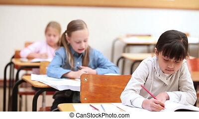 fonctionnement, élèves, heureux