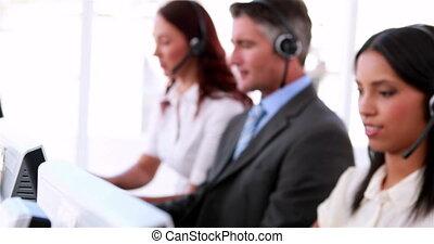 fonctionnement, centre appel, agents