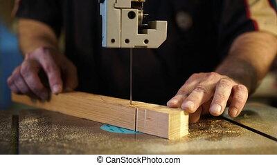 fonctionnement, concept, woodworking., charpentier, workshop., travail manuel, charpenterie