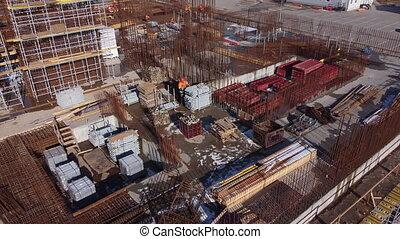 fonctionnement, construction, cargaison, constructeur, site