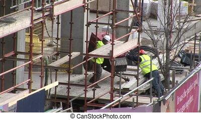 fonctionnement, construction, hommes, industrie
