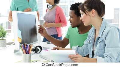 fonctionnement, créatif, concepteur, équipe
