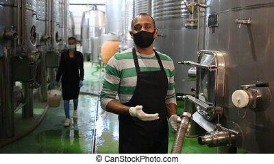 fonctionnement, fermentation, masque, établissement vinicole, winemaking, département, équipement, processus, winemaker