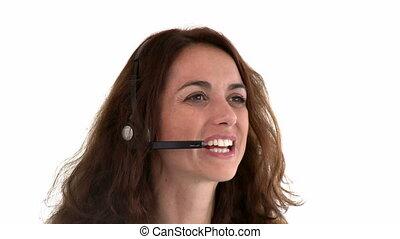 fonctionnement, hispanique, appel-centre