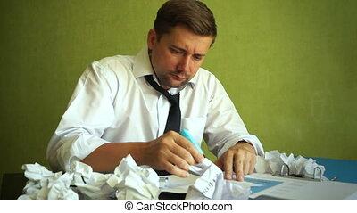 fonctionnement, problèmes, business., directeur, accentué, documents.