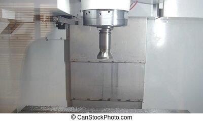 fonctionnement, processus, -, industrie, métal, machine, forage, automobile, fabrication