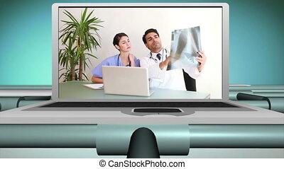 fonctionnement, vidéos, ensemble, médecins