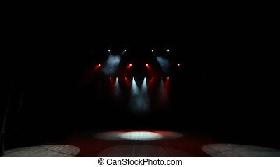 fond, étape, concert, lumières, magenta