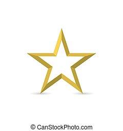 fond, étoile, blanc, doré