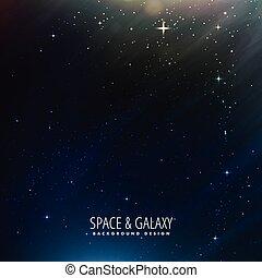 fond, étoiles, espace