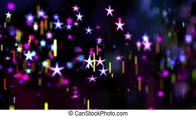 fond, étoiles, résumé