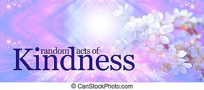fond, aléatoire, gentillesse, actes