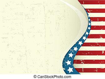 fond, américain