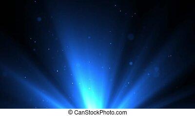 fond, beau, flamme, bleu, shimmering, lentille, particules, boucle, noir
