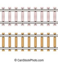 fond, blanc, illustration, isolé, chemin fer, vecteur