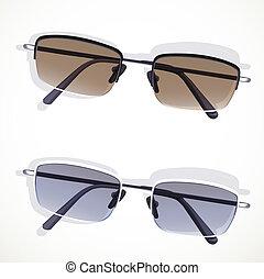 fond blanc, isolé, lunettes