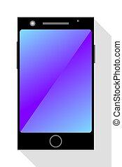 fond blanc, smartphone, moderne
