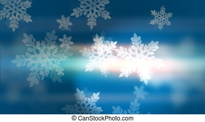 """fond, """"blue, snowflakes"""", animation, boucle"""