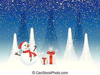 fond, bonhomme de neige, noël dons