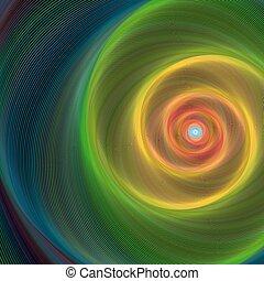 fond, brillant, spirale, coloré