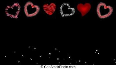 fond, cœurs