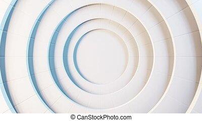 fond, cercles, en mouvement, résumé, animé