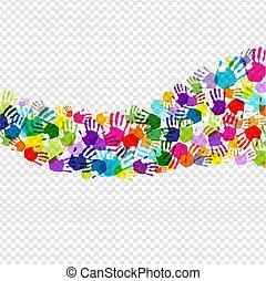 fond couleur, main, isolé, transparent, impression