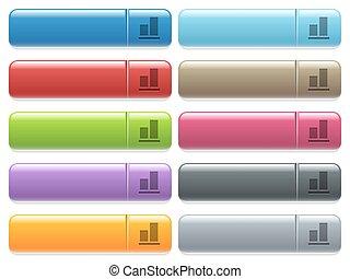 fond, couleur, menu, aligner, icônes, rectangulaire, lustré, bouton
