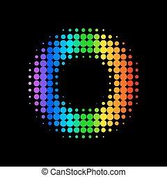 fond couleur, vecteur, point